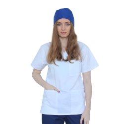 Boneta albastra, unisex, marime universala, cu prindere elastic la spate
