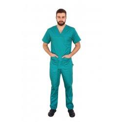 Costum medical barbati verde unisex