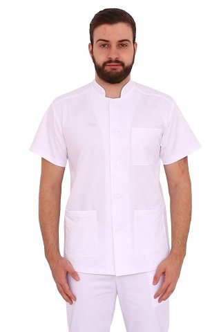 Costum medical alb tip tunica