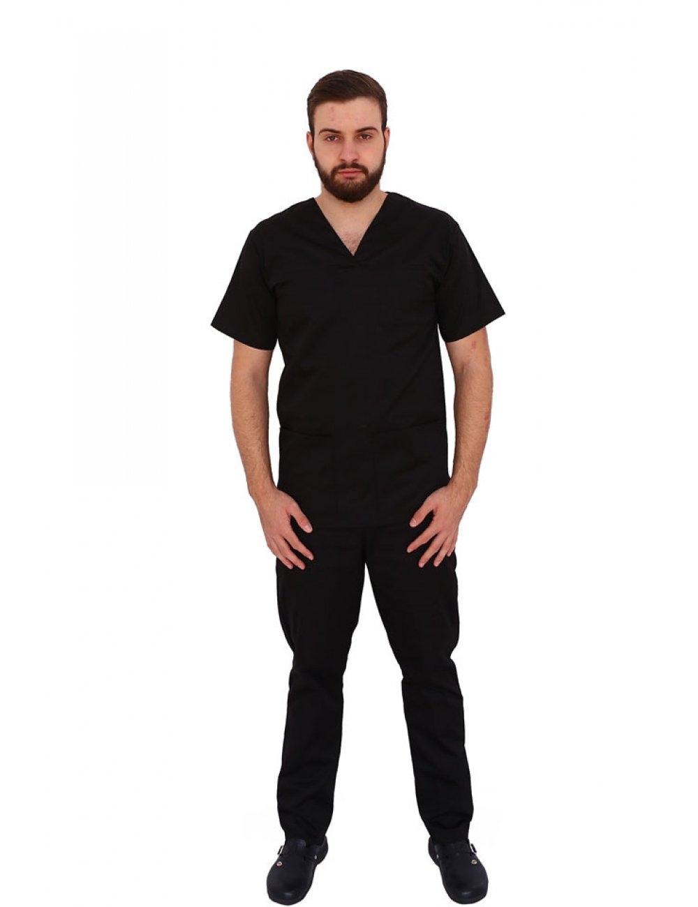 Costum medical negru unisex