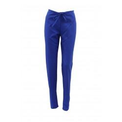 Pantaloni medicali albastri cu elastic si doua buzunare laterale