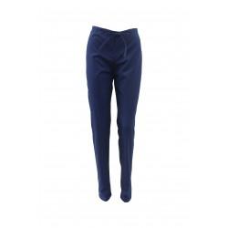 Pantaloni medicali bleumarin cu elastic si doua buzunare laterale