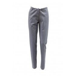 Pantaloni medicali gri cu elastic si doua buzunare laterale