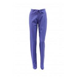 Pantaloni medicali mov cu elastic si doua buzunare laterale