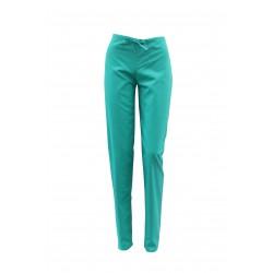 Pantaloni medicali verzi cu elastic si doua buzunare laterale