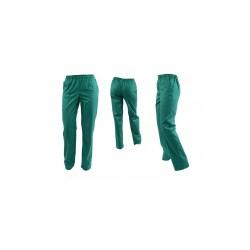 Pantaloni unisex verzi cu elastic si doua buzunare laterale
