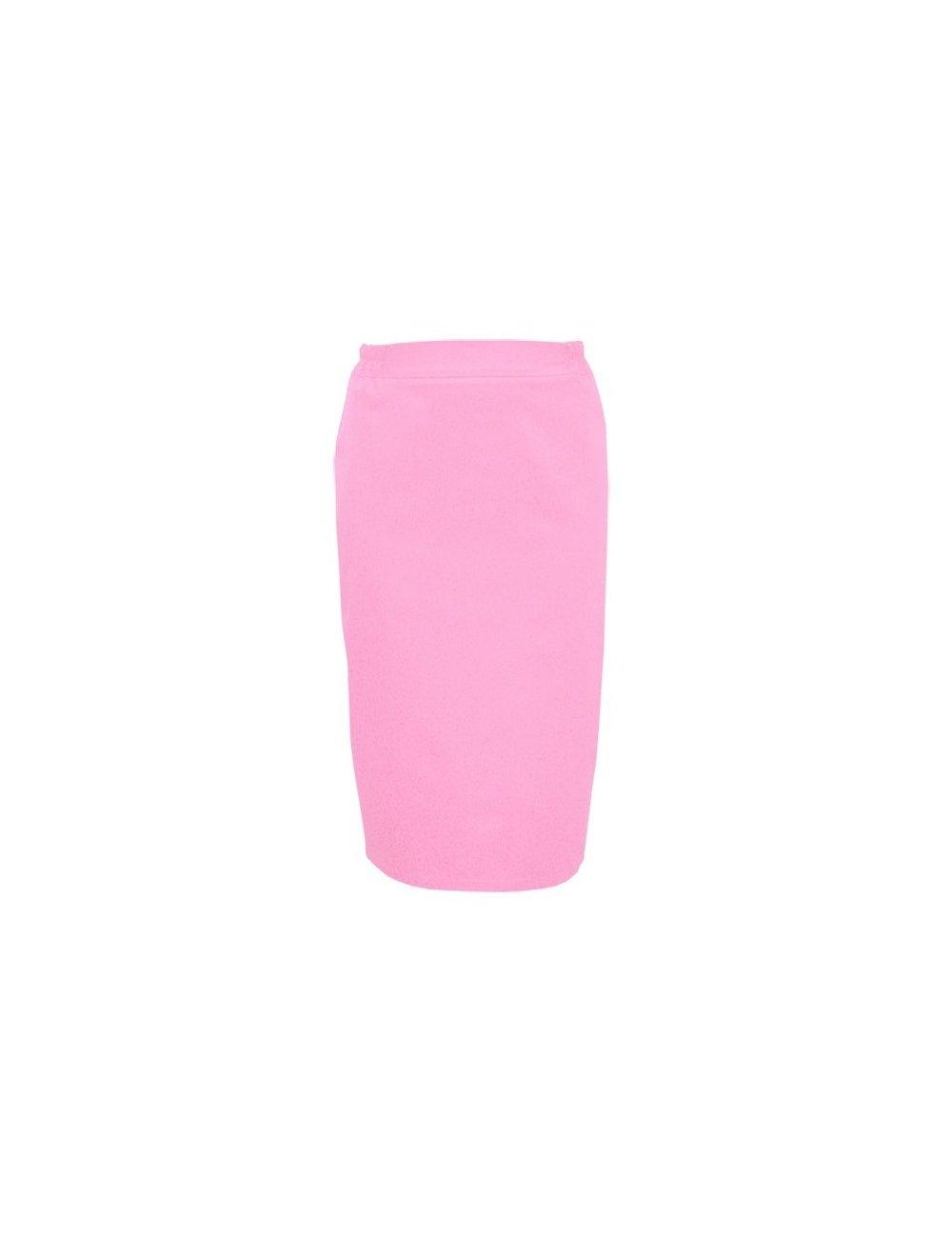 Fusta medicala roz cu fermoar la spate si elastic in talie pe lateral