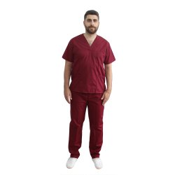 Costum medical barbati grena unisex