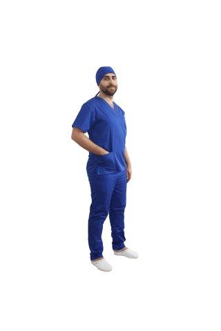 Costum medical barbati albastru unisex